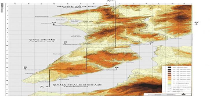 Çanakkale Şehitlikleri Coğrafi Haritası