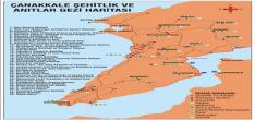 Çanakkale Şehitlik Gezi Haritası