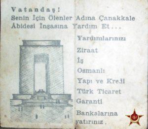 Çanakkale Şehitler Abidesi Kampanya Afişi