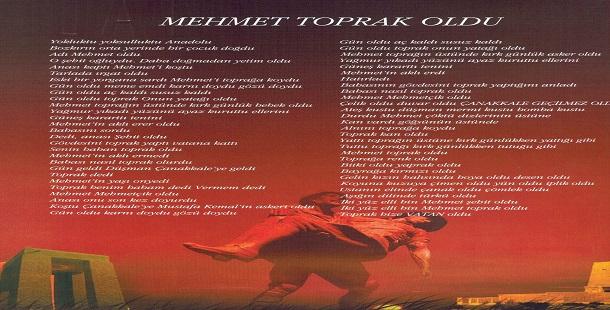 Mehmet Toprak Oldu Şiiri